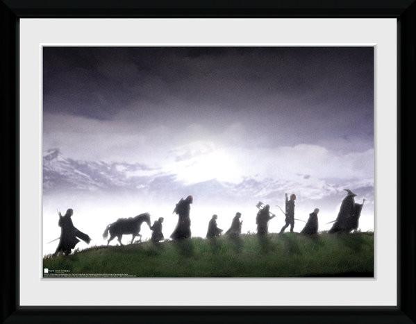 El Señor de los Anillos - Fellowship Poster enmarcado
