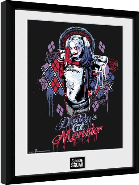 Escuadrón Suicida - Harley Quinn Monster Poster enmarcado
