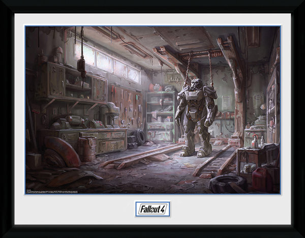 Poster enmarcado Fallout 4 - Red Rocket Interior