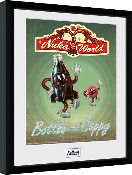 Poster enmarcado Fallout - Bottle and Cappy