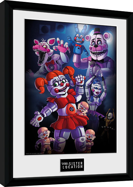 Five Nights At Freddys Sister Location Group Poster Enmarcado Europosterses