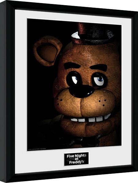 Poster enmarcado Five Nights at Freddys - Fazbear
