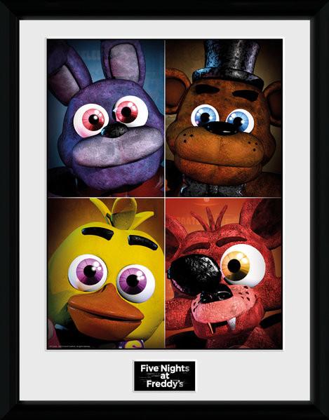 Poster enmarcado Five Nights at Freddys - Quad
