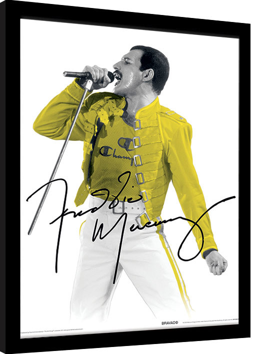 Poster enmarcado Freddie Mercury - Yellow Jacket