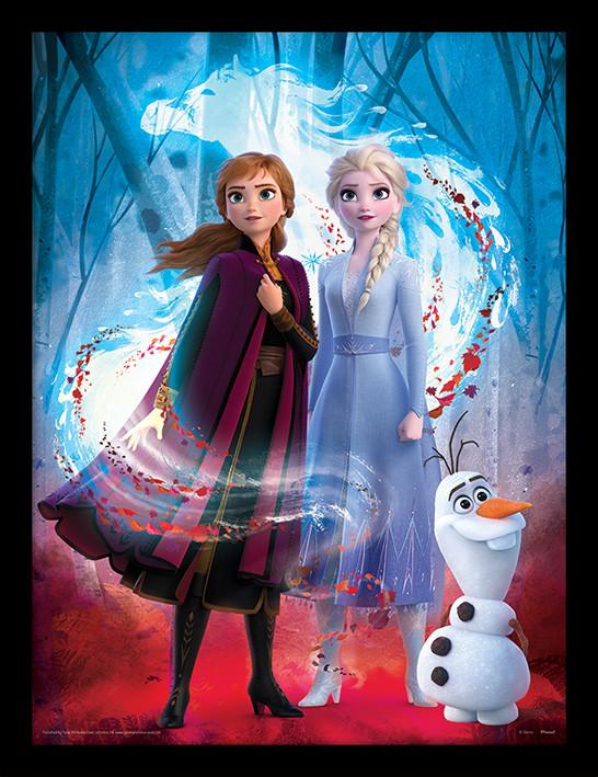 Poster enmarcado Frozen, el reino del hielo 2 - Guiding Spirit