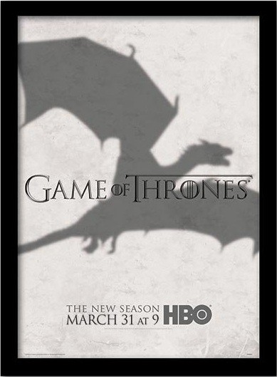 GAME OF THRONES 3 - shadow Poster enmarcado