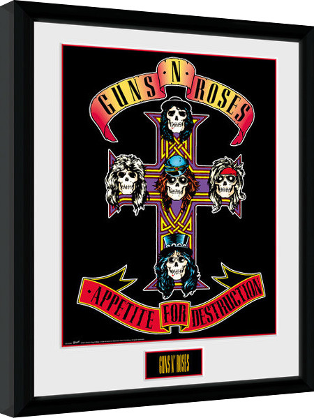 Poster enmarcado Guns N Roses - Appetite