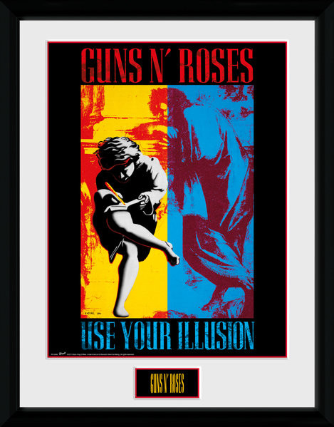 Guns N Roses - Illusion Poster enmarcado