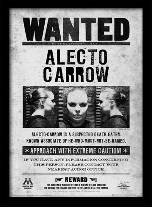 Harry Potter - Alecto Wanted Poster enmarcado