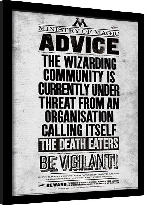 Harry Potter - Be Vigilant Poster enmarcado