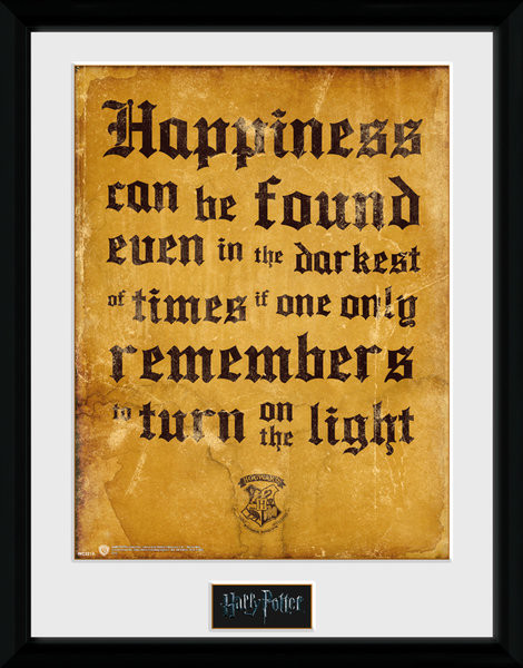Poster enmarcado Harry Potter - Happiness Can Be