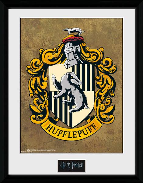 Poster enmarcado Harry Potter - Hufflepuff