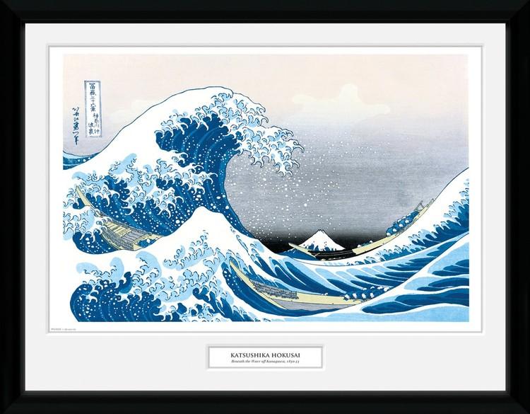 Poster enmarcado Hokusai - Great Wave