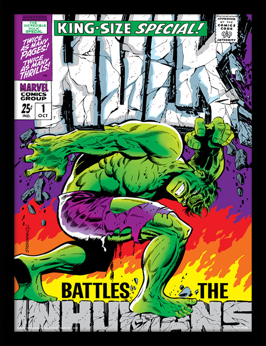 Incredible Hulk - Inhumans Poster enmarcado