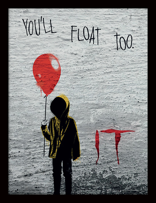 IT - Georgie Graffiti Poster enmarcado