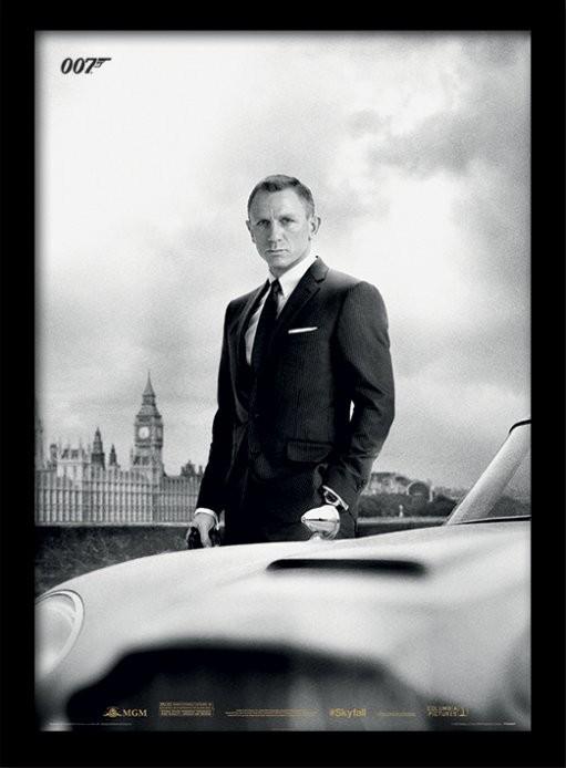 James Bond (Skyfall) - Bond & DB5 Poster enmarcado