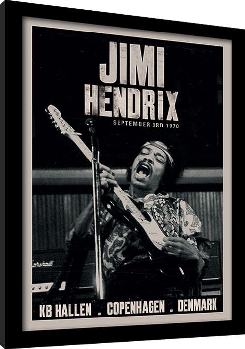 Jimi Hendrix - Copenhagen Poster enmarcado | Europosters.es