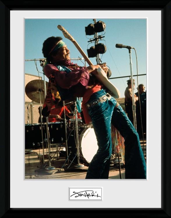 Jimi Hendrix - Live Poster enmarcado