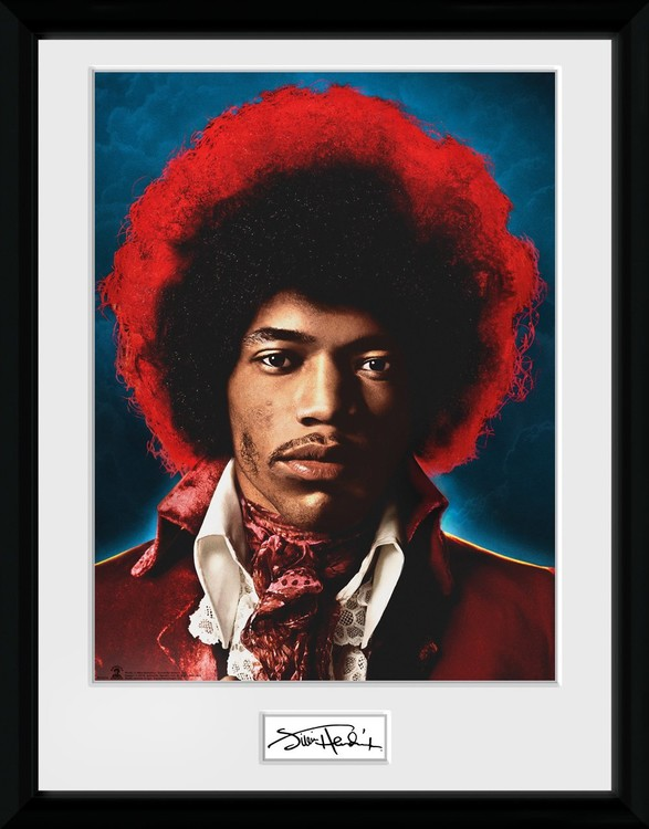 Poster enmarcado Jimi Hendrix - Sky