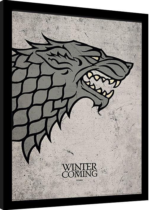 Juego de Tronos - Stark Poster enmarcado