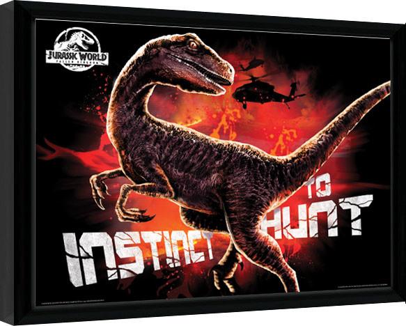 Jurassic World: El Reino Caído - Instinct To Hunt Poster enmarcado