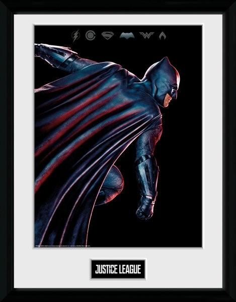 La Liga de la Justicia- Movie Batman Poster enmarcado