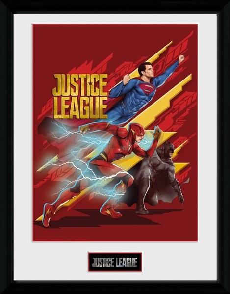 La Liga de la Justicia- Trio Poster enmarcado