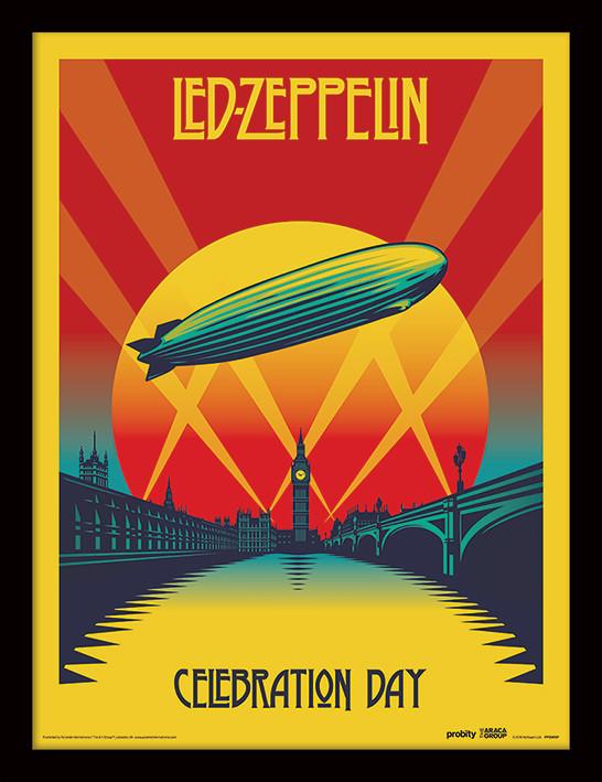 Poster enmarcado Led Zeppelin - Celebration Day