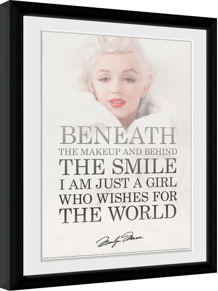 Marilyn Monroe - Beneath Poster enmarcado | Europosters.es
