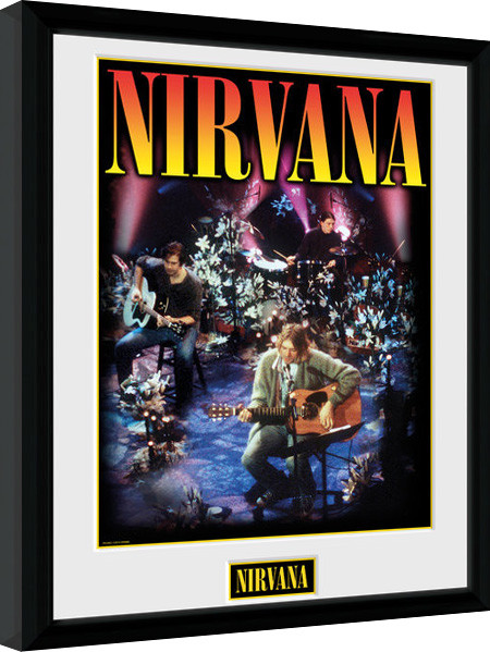 Nirvana - Unplugged Poster enmarcado