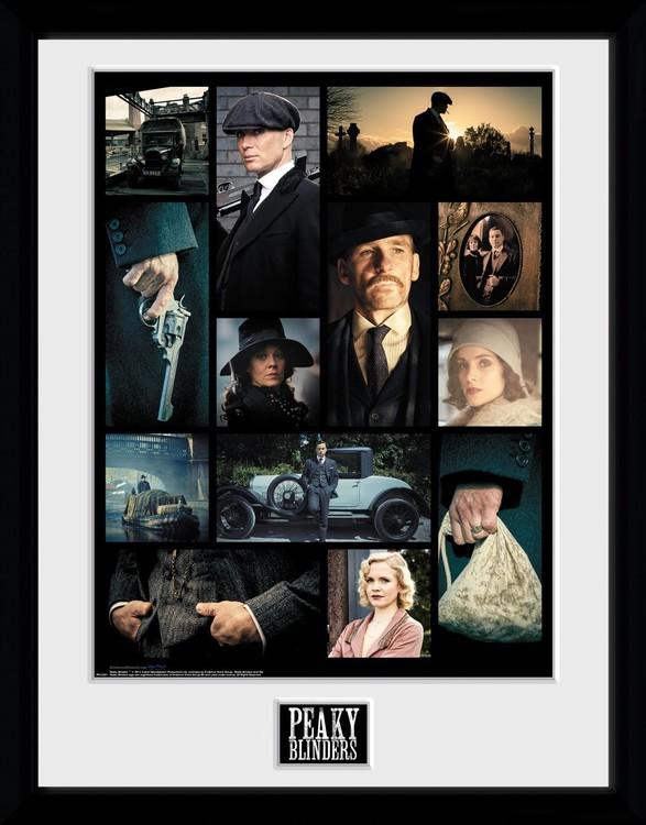 Peaky Blinders - Grid Poster enmarcado