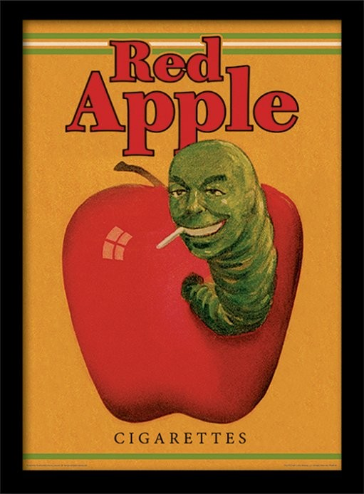 Poster enmarcado PULP FICTION - red apple cigarettes