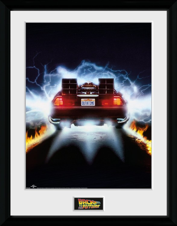 Regreso al futuro - Delorean Poster enmarcado