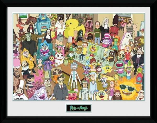Rick and Morty - Total Rickall Poster enmarcado