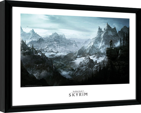 Poster enmarcado Skyrim - Vista