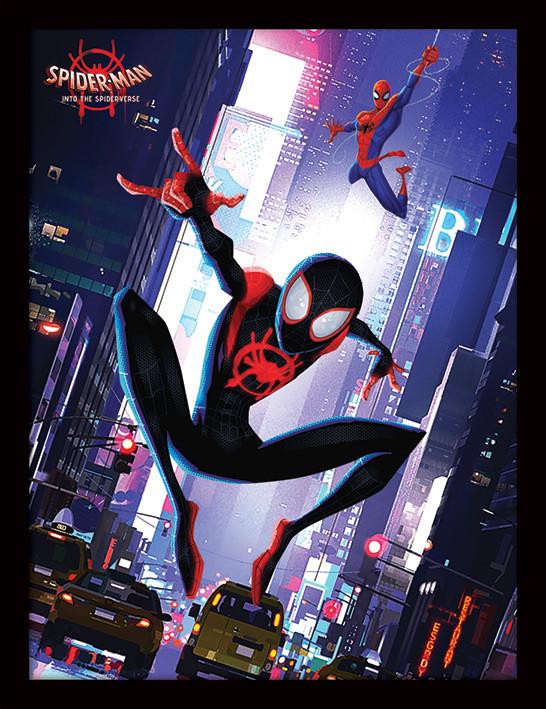 Spider-Man: Into The Spider-Verse - Swing Poster enmarcado