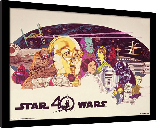 Star Wars 40th Anniversary - Characters Horizontal Poster enmarcado ...