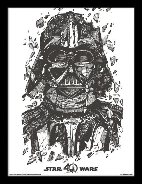 Star Wars 40th Anniversary - Darth Vader Poster enmarcado ...