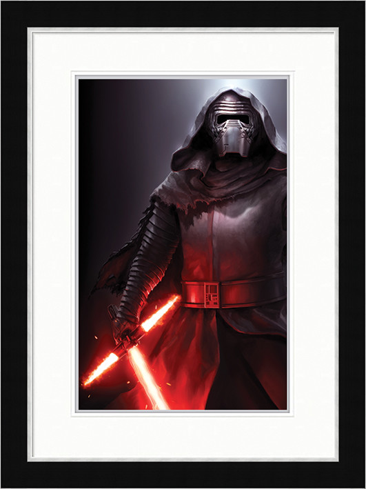 Star Wars Episode VII: The Force Awakens - Kylo Ren Stance Poster enmarcado
