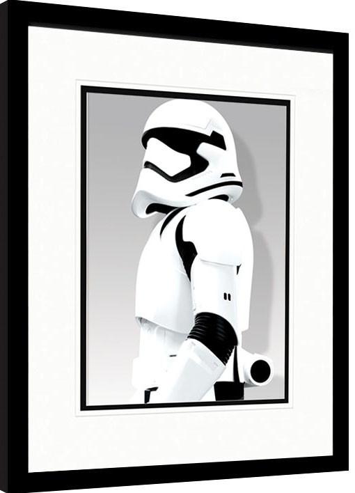Star Wars Episode VII: The Force Awakens - Stormtrooper Shadow Poster enmarcado