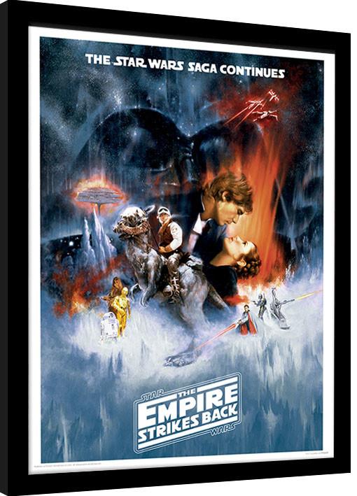 Poster enmarcado Star Wars: TEl imperio contraataca - One Sheet