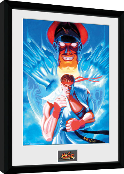 Street Fighter - Ryu and Bison Poster enmarcado | Europosters.es