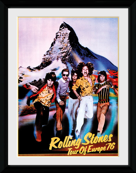 Poster enmarcado The Rolling Stones - On Tour 76