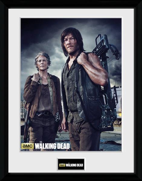 Poster enmarcado The Walking Dead - Carol and Daryl