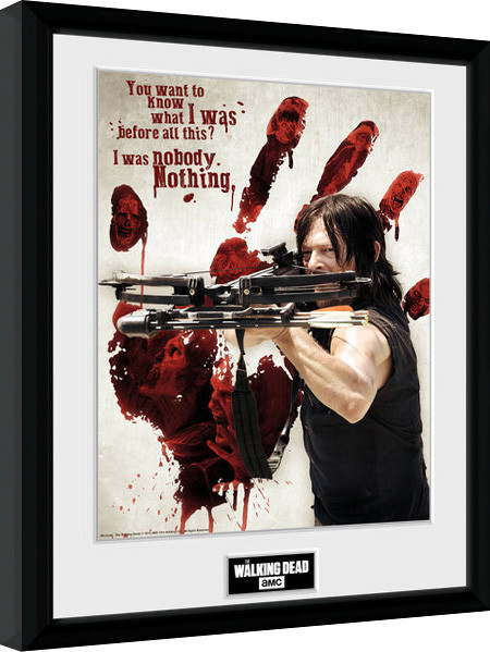 Poster enmarcado The Walking Dead - Daryl Bloody Hand
