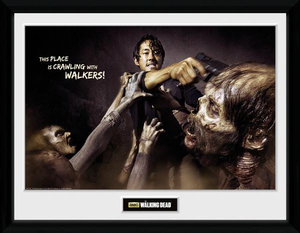 Poster enmarcado The Walking Dead - Glenn Attack