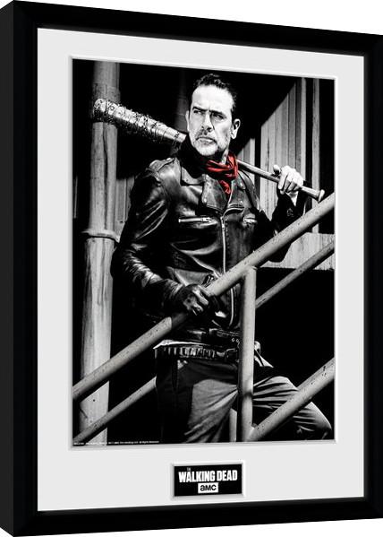 The Walking Dead - Negan Stairs Poster enmarcado