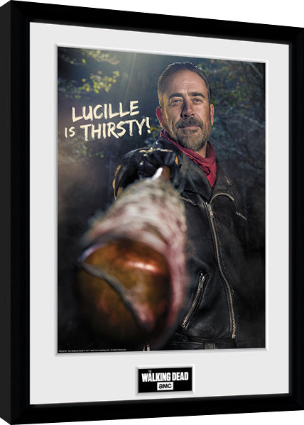 Poster enmarcado The Walking Dead - Negan Thirsty