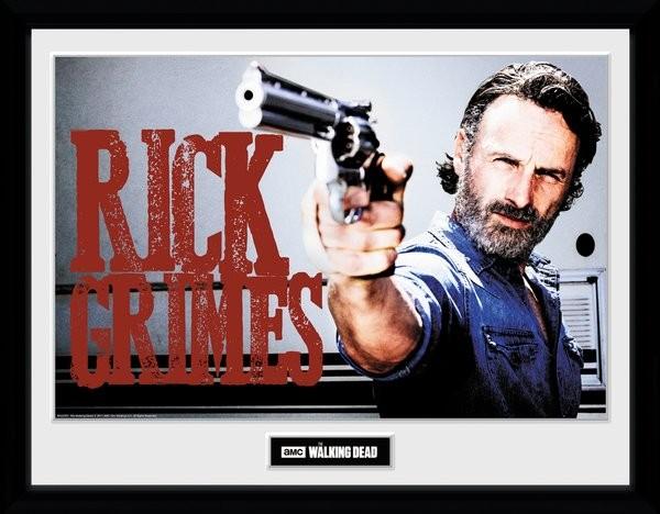 The Walking Dead - Rick Grimes Poster enmarcado