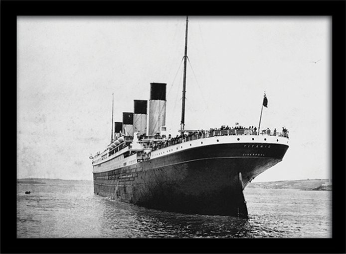 Poster enmarcado Titanic (3)